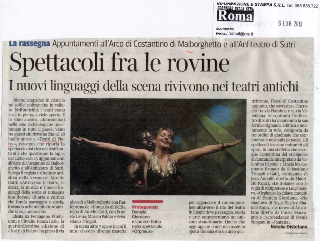 Corriere della Sera RM - 6 Lug. 2013